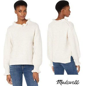 Madewell Ruffle Neck Pull Over Sweater